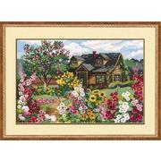 """Набор для вышивания крестом Риолис """"Цветущий сад"""""""