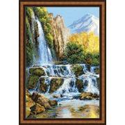 """Набор для вышивания крестом Риолис """"Пейзаж с водопадом"""""""