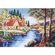 "Канва/ткань с нанесенным рисунком Gobelin-L ""Тихая река"""