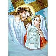 """Канва/ткань с нанесенным рисунком Gobelin-L """"Святой Крест"""""""