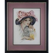 """Набор для вышивания крестом Марья искусница """"Девушка с розовым бантом"""""""