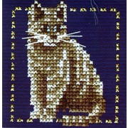 """Набор для вышивания крестом LANARTE """"Серый котенок"""""""