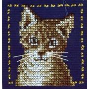 """Набор для вышивания крестом LANARTE """"Серый кот"""""""
