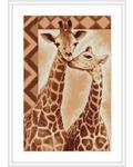 """Набор для вышивания крестом Luca-S """"Жирафы"""""""