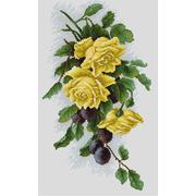 """Набор для вышивания крестом Luca-S """"Желтые розы со сливами"""""""