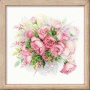 """Набор для вышивания крестом Риолис """"Акварельные розы"""""""