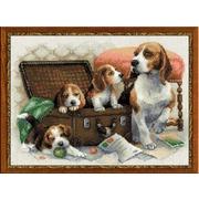 """Набор для вышивания крестом Риолис """"Собачье семейство"""""""