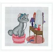 """Набор для вышивания крестом Luca-S """"Кошка у зеркала"""""""