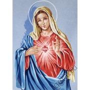 """Канва/ткань с нанесенным рисунком Gobelin-L """"Доброе сердце Девы Марии"""""""