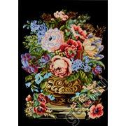 "Канва/ткань с нанесенным рисунком Gobelin-L ""Пионы в вазе"""