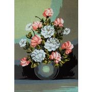 """Канва/ткань с нанесенным рисунком Gobelin-L """"Бело-розовый букет"""""""
