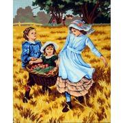 """Канва с нанесенным рисунком Gobelin-L """"Сбор урожая"""""""