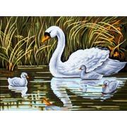 "Канва с нанесенным рисунком Gobelin-L ""Лебеди"""