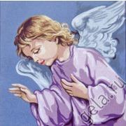 """Канва/ткань с нанесенным рисунком Gobelin-L """"Спящий Ангел Хранитель"""""""