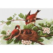 """Набор для вышивания крестом Luca-S """"Птички"""""""