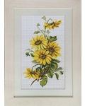 """Набор для вышивания крестом Luca-S """"Желтые цветы"""""""