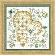 """Набор для вышивания бисером Риолис """"Золотое сердце"""""""
