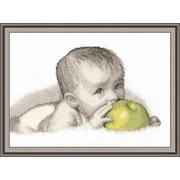 """Набор для вышивания крестом Овен """"Малыш с яблоком"""""""