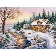 """Набор для вышивания крестом Алиса """"Зима. К вечеру"""""""