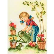 """Набор для вышивания лентами Panna """"Растите цветочки"""""""