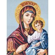 "Канва с нанесенным рисунком Gobelin-L ""Дева Мария с младенцем"""