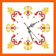"""Набор для вышивания бисером Zengana """"Часы. Осень"""""""