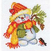 """Набор для вышивания крестом Алиса """"Снеговичок"""""""
