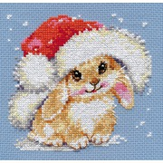 """Набор для вышивания крестом Алиса """"Зимний зайчишка"""""""