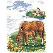 """Набор для вышивания крестом Алиса """"Лошадки"""""""