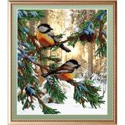 """Набор для вышивания бисером М.П. Студия """"Птички в лесу"""""""