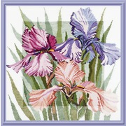 """Набор для вышивания крестом Овен """"Цветущие ирисы"""""""