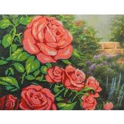 """Набор для вышивания бисером М.П. Студия """"Красные розы"""""""