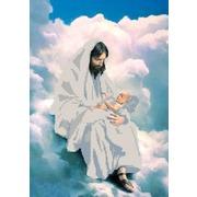 "Канва/ткань с нанесенным рисунком Конёк ""На облаках"""