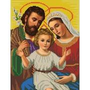 """Ткань с рисунком для вышивки бисером Конёк """"Святое семейство"""""""