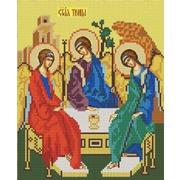 """Ткань с рисунком для вышивки бисером Конёк """"Святая Троица"""""""