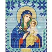 """Ткань с рисунком для вышивки бисером Конёк """"Богородица Неувядаемый Цвет"""""""