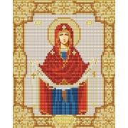 """Ткань с рисунком для вышивки бисером Конёк """"Покров Пресвятой Богородицы"""""""