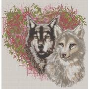 """Ткань с рисунком для вышивки бисером Конёк """"Волки"""""""