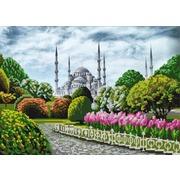 """Ткань с рисунком для вышивки бисером Конёк """"Голубая мечеть"""""""