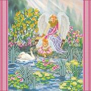 """Ткань с рисунком для вышивки бисером Абрис Арт """"Райский сад"""""""