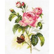 """Набор для вышивания крестом Алиса """"Роза и бабочка"""""""