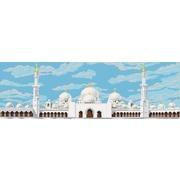 """Ткань с рисунком для вышивки бисером Конёк """"Мечеть шейха Заида в Абу-Даби"""""""