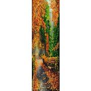 """Ткань с рисунком для вышивки бисером Конёк """"Полиптих. Осень. №1"""""""