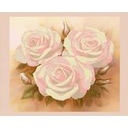 """Ткань с рисунком для вышивки бисером Конёк """"Розовые розы"""""""