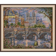 """Набор для вышивания крестом Овен """"Париж. На берегу Сены"""""""