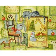 """Набор для вышивания крестом Марья искусница """"Рождественское одеяло"""""""