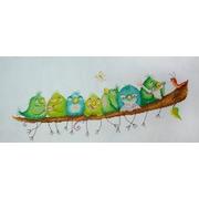 """Набор для вышивания крестом Марья искусница """"Веселые птички"""""""