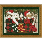 """Набор для вышивания крестом Kustom Krafts Inc. """"Рождественские носки"""""""