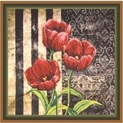 """Набор для вышивания бисером Овен """"Красные тюльпаны"""""""