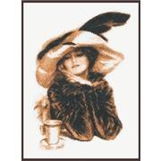 """Набор для вышивания крестом Палитра """"За чашкой чая"""""""